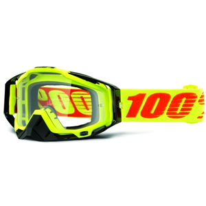 100% RACECRAFT ATTACK GOGGLE - CLEAR LENS