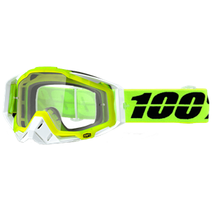 100% RACECRAFT SOLAR GOGGLE YELLOW/CLEAR