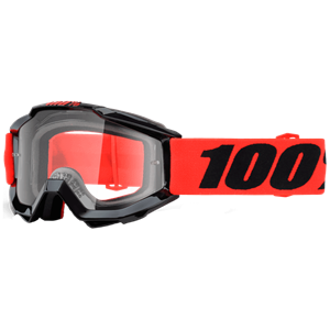 100% YOUTH ACCURI GOGGLE RED/CLEAR