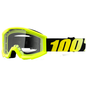 100% YOUTH STRATA GOGGLE YELLOW/CLEAR