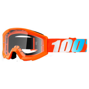 100% YOUTH STRATA GOGGLE ORANGE/CLEAR