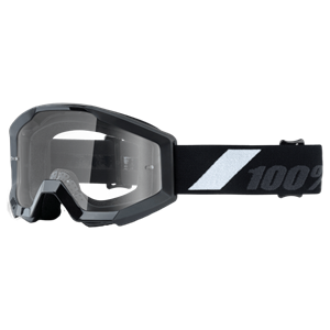 100% YOUTH STRATA GOGGLE BLACK/CLEAR