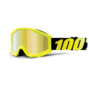 100% Strata Youth Goggle Neon Ylw - Mr Gold Lens
