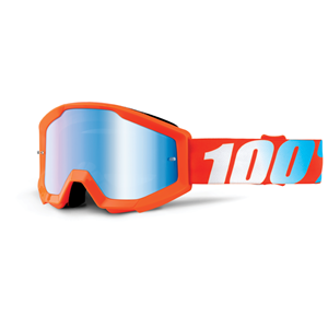 100% STRATA YOUTH GOGGLE ORANGE - MIRROR BLUE LENS