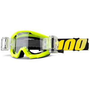 100% Strata Jr Mud Neon Yellow - Clear Lens