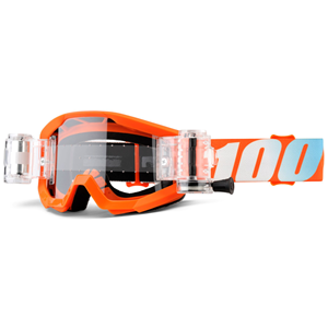 100% Strata Jr Mud Orange - Clear Lens