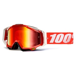 100% Racecraft Goggle - Red Mirror Lens