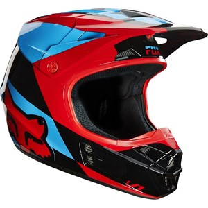 Fox V1 Mako Helmet Blue/Red