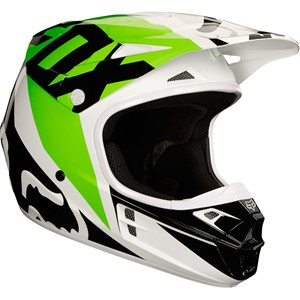 v1 Race helmet White/Black/Green