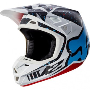 Fox V2 Race Helmet Red/White