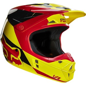 Fox V1 Mako Helmet Yellow/Red
