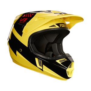 Youth v1 mastar helmet, ece Yellow