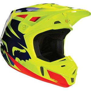 Fox V2 Race Helmet Yellow