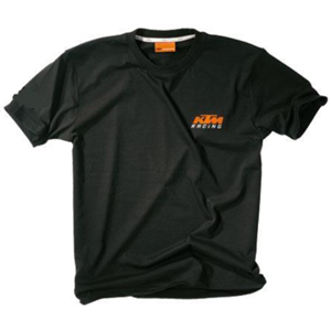 KIDS RACING TEE BLACK 116/XS