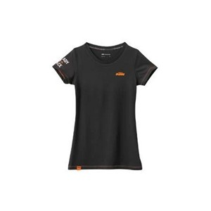 GIRLS RACING TEE BLACK M