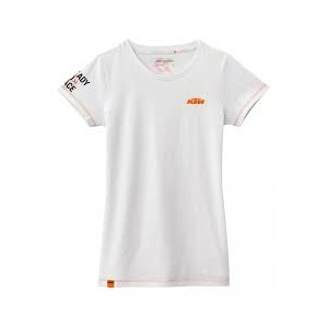 GIRLS RACING TEE WHITE S